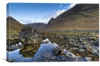 Rock pool, Glen Etive, Canvas Print