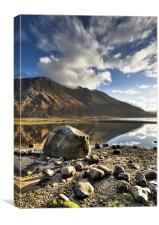 Rocks, Loch Etive and Ben Starav, Canvas Print