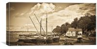 View of Pin Mill from King's Yard, Canvas Print