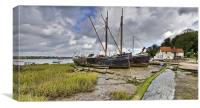Boats on the hard, Pin Mill, Canvas Print