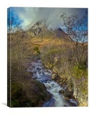 Stream below Stob Dearg, Canvas Print