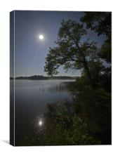 Lake by moonlight, Canvas Print