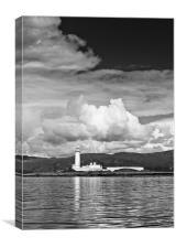 Lismore lighthouse B&W, Canvas Print