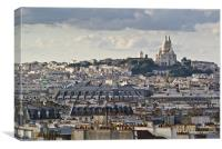 Sacre Coeur over rooftops, Canvas Print