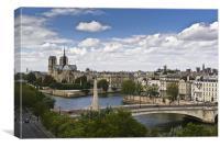 Paris view, Notre Dame, Canvas Print