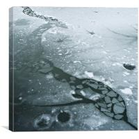 Frozen pond, Canvas Print