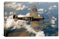 Battle of Britain Spitfire, Canvas Print