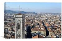 Campanile view Florence, Canvas Print