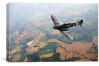 Spitfire victory, Canvas Print