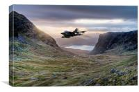 Low flying Tornado jet, Canvas Print