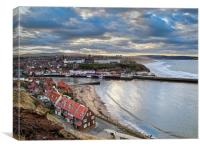 Afternoon light, Whitby harbour, Canvas Print