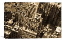 New York City buildings, Canvas Print
