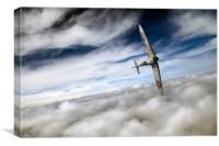 Freedom: Spitfire solo, Canvas Print
