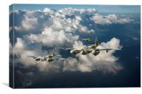 Mosquitos above clouds, Canvas Print