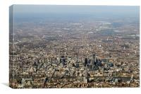 Aerial view of the City of London, Canvas Print