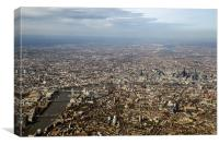 Aerial view of central London, Canvas Print