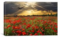 The final sortie: Lancaster Spitfire Hurricane, Canvas Print