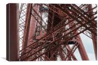 Forth Rail Bridge girders, Canvas Print