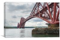Forth Rail Bridge north east view, Canvas Print