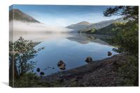 Misty morning on Lock Eck, Canvas Print