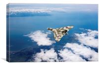Vulcan over South Wales, Canvas Print