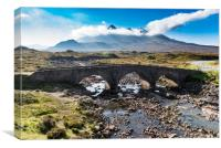 Cuillin from Sligachan, Canvas Print