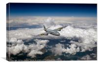 Canberra over the Mediterranean, Canvas Print
