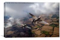 Spitfires among low clouds, Canvas Print