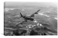 Short Stirling air test black and white version, Canvas Print