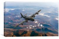 Short Stirling air test, Canvas Print