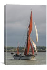 Thames sailing barge Xylonite, Canvas Print
