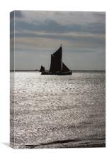 Thames sailing barge Centaur, Canvas Print