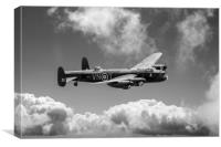 Lancaster PA474 VN-T, B&W version, Canvas Print
