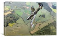 Dive bombing Spitfire XVI, Canvas Print
