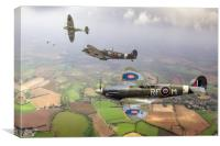 Spitfire sweep, Canvas Print