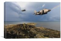 Sea Harriers over the Falklands, Canvas Print