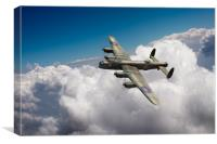 Lancaster KB799 The Moose above clouds, Canvas Print