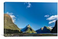 Autumn morning Milford Sound, Canvas Print