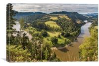 Whanganui River bend, Canvas Print