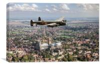 """""""City of Lincoln"""" over the City of Lincoln, Canvas Print"""