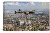 """""""City of Lincoln"""" VN-T over the city of Lincoln, Canvas Print"""