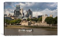 Tower and City of London, Canvas Print