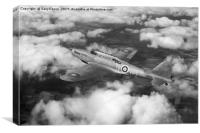 Fairey Battle in flight, B&W version, Canvas Print