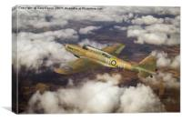 Fairey Battle in flight, Canvas Print