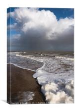 Stormy sea foam , Canvas Print