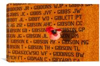 IBCC wall of names and poppy, Canvas Print