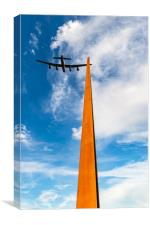 Lancaster over the IBCC spire, Canvas Print