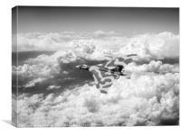 Vulcan above majestic clouds B&W version, Canvas Print