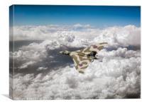 Vulcan above majestic clouds, Canvas Print