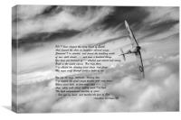 High Flight: Spitfire solo, Canvas Print